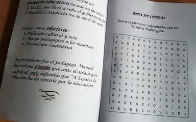 Cuadernillo didáctico de las Misiones Pedagógicas